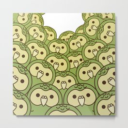 Oshikura Kakapo Surround Metal Print