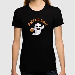 Trick or Treat Spooky Halloween Ghost Jack O Lantern T-shirt