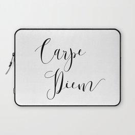 Carpe Diem Minimalist Art Print Laptop Sleeve