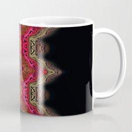 Elegant wavy pink stripes on black Coffee Mug