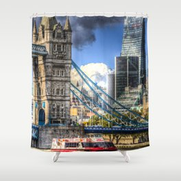 Tower Bridge and the Cheese Grater Shower Curtain