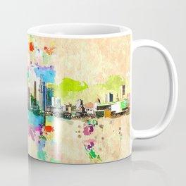 Miami Skyline Grunge Coffee Mug