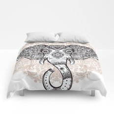 Elephant on Mandala Comforters