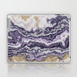Purple and ochre marble texture Laptop & iPad Skin
