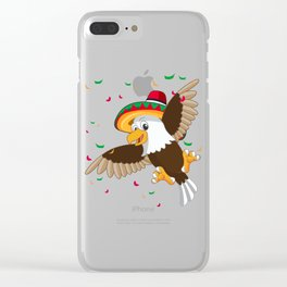 Cinco De mayo American Bald Eagle T-Shirt Clear iPhone Case
