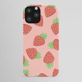 Strawberry pattern iPhone Case