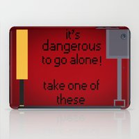 shaun of the dead iPad Cases featuring Shaun of the dead - It's dangerous to go alone! by tukylampkin