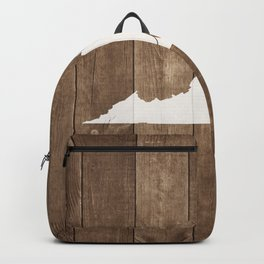 Virginia is Home - White on Wood Backpack