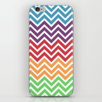 gumball iPhone & iPod Skins featuring Gumball Chevron by Wicked Cool Studio