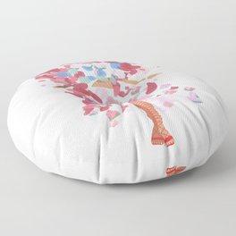 rihanna x comme x metgala17 Floor Pillow