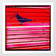 Even the birds wear masks here Art Print