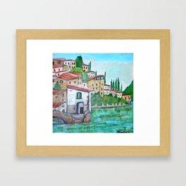 Nesso, Lake Como Framed Art Print