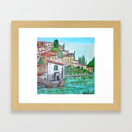 Nesso, Lake Como Framed Art Print