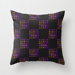 Halloween Patchwork Weave Throw Pillow