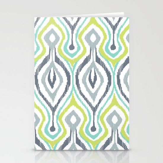 Sketchy IKAT Stationery Cards