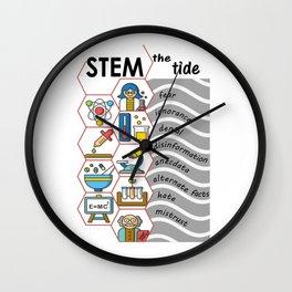 STEM the tide Wall Clock