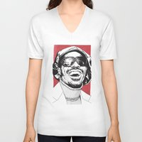 stevie nicks V-neck T-shirts featuring Stevie Wonder by Andy Christofi