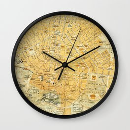 Vintage Map of Athens Greece (1894) Wall Clock