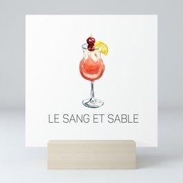 Le Sang et Sable Cocktail Mini Art Print