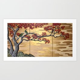Japanese Fall Leaves Art Print