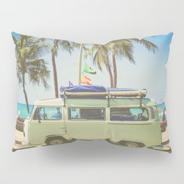 Surf Van Road Trip Beach California Pillow Sham