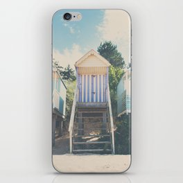 beach huts photograph iPhone Skin