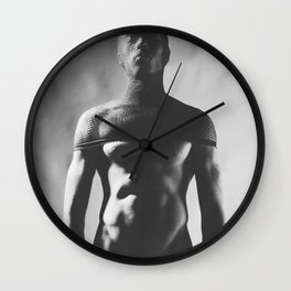 A Sexy Naked man dressed up kinky Wall Clock