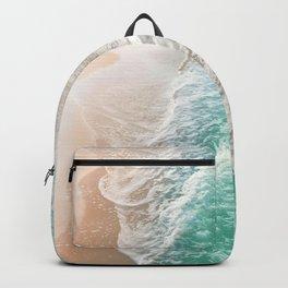 Soft Emerald Beige Ocean Dream Waves #1 #water #decor #art #society6 Backpack