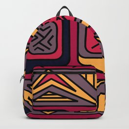 Ethnic background folk african pattern Backpack