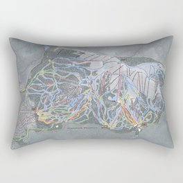 Mammoth Mountain Resort Trail Map Rectangular Pillow