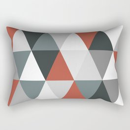 Big triangles red and grey Rectangular Pillow