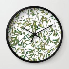 olive pattern Wall Clock