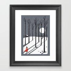 little red cap Framed Art Print