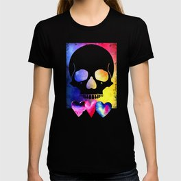 Colorful Skull for Day of Dead Halloween Design T-shirt