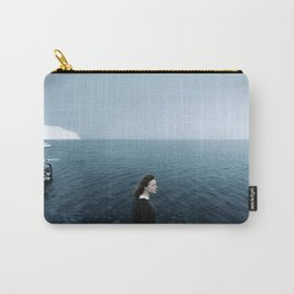 Girl ocean ice mountain Carry-All Pouch