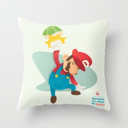 Mario | Nintendo All-Stars #5 Throw Pillow
