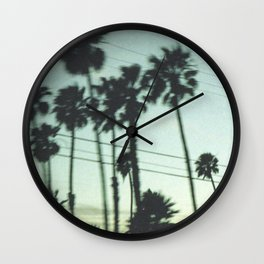 Los Angeles Palm Trees Wall Clock