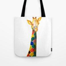 Giraffe Watercolor Print Tote Bag