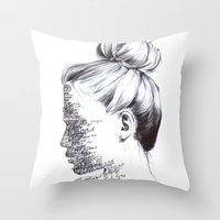the national Throw Pillows featuring THE NATIONAL by Alice Green