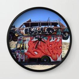 Box truck limo art Wall Clock