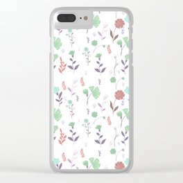 Tulum Floral 6 Clear iPhone Case