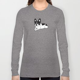 Double Hooded Pied Frenchie Long Sleeve T-shirt