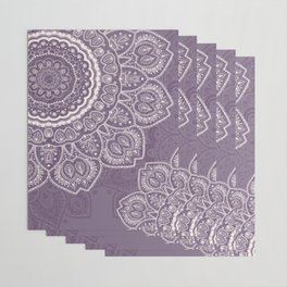 Mandala Tulips in Lavender ad Cream Wrapping Paper