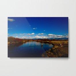 Snake River Fly Fishing Metal Print