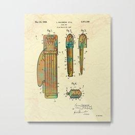Golf bag Patent 1949 Metal Print