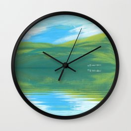 The Clearing With Reflection Wall Clock