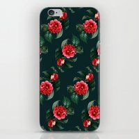 floral pattern iPhone & iPod Skins featuring Floral Pattern by Heart of Hearts Designs
