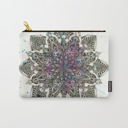 Zen Watercolor Mandala Full Carry-All Pouch