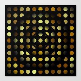 Golden moons dark circles Canvas Print