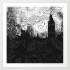 On A Rainy Day in London Art Print